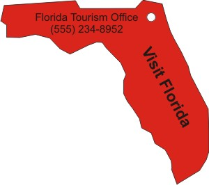Custom Printed Florida State Stock Shape Air Fresheners