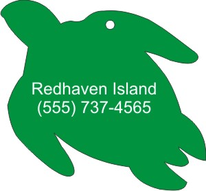 Custom Printed Sea Turtle Animal Stock Shape Air Fresheners