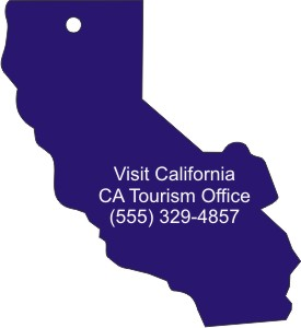 Custom Printed California State Stock Shape Air Fresheners