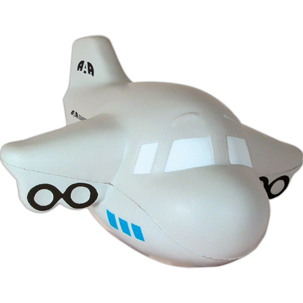 Custom Printed Airplane Stress Ball Squeezies
