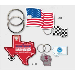 Custom Printed Alabama State Shaped Key Tags