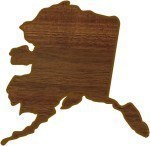 Custom Printed Alaska State Shaped Plaques