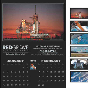 America in Space Executive Calendars, Custom Made With Your Logo!