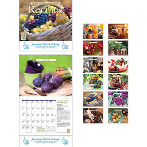 Custom Printed America the Beautiful with Recipes Appointment Calendars