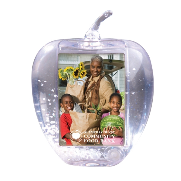 Apple Shaped Snow Globes, Custom Imprinted With Your Logo!