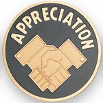 Custom Engraved Appreciation Handshake Emblems and Seals