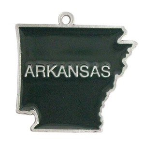 Arkansas State Shaped Ornaments, Custom Imprinted With Your Logo!