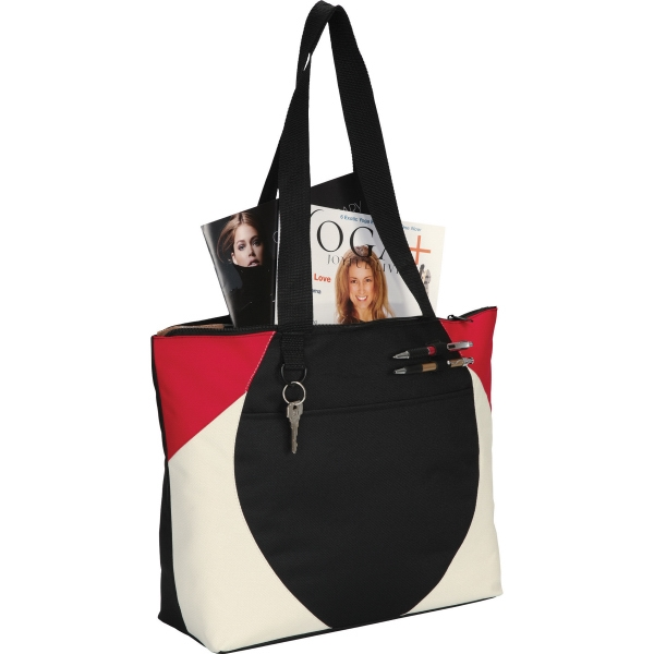 1 Day Service Zippered Tote Bags, Custom Designed With Your Logo!