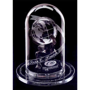 Atlas 2000 Globe Crystal Awards, Customized With Your Logo!