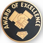 Custom Engraved Award of Excellence Emblems and Seals