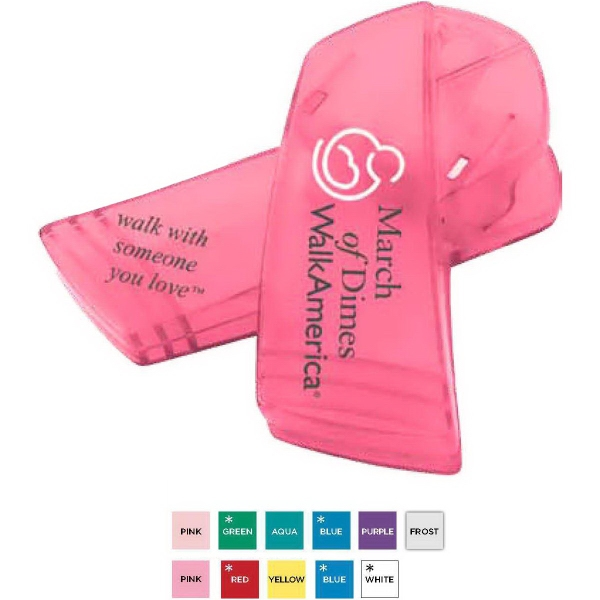 Custom Printed Awareness Ribbon Shaped Bag Clips For Under A Dollar
