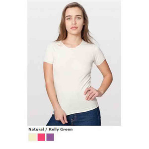 American Apparel Baby Rib Basic T-Shirts For Women, Custom Imprinted With Your Logo!
