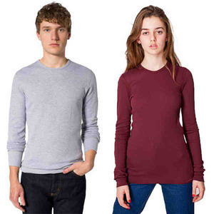 American Apparel Baby Thermal Long Sleeve Shirts For Men, Custom Imprinted With Your Logo!