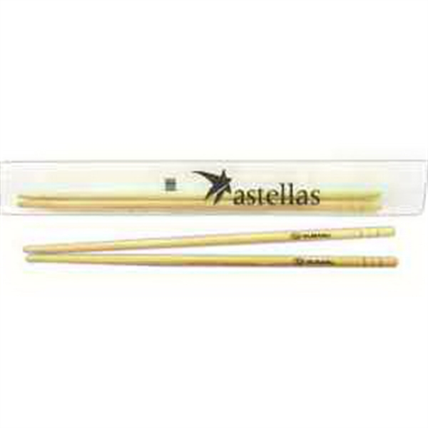Bamboo Cello Wrapper Chopsticks, Customized With Your Logo!