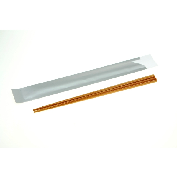 Custom Printed Bamboo Chopsticks with Silver Pouches