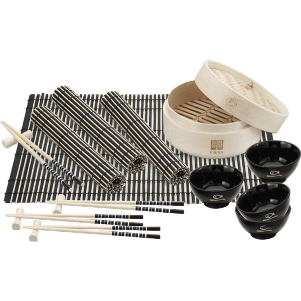 Custom Printed Canadian Manufactured Bamboo Steamer Sets