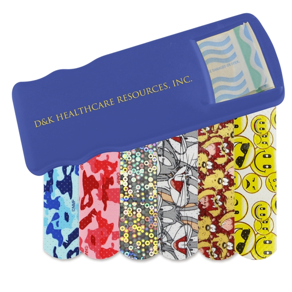 Custom Printed Bandage Dispensers with Pattern Bandages For Under A Dollar