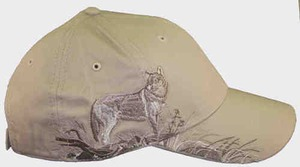 Custom Printed Baseball Cap Stock Design Wolf