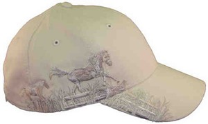 Custom Printed Baseball Cap Stock Design Horse