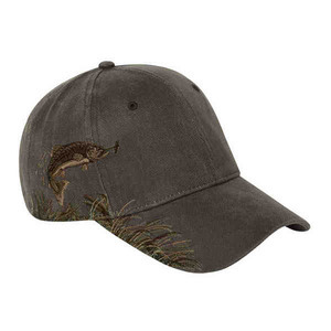 Custom Printed Baseball Cap Stock Design Trout