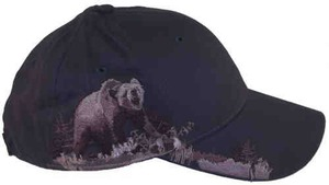 Custom Printed Baseball Cap Stock Design Bear