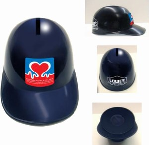Baseball Helmet Banks, Custom Imprinted With Your Logo!