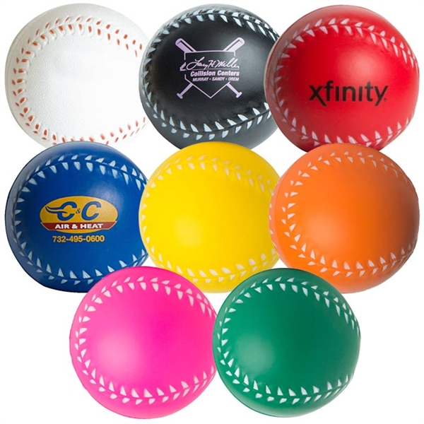 Custom Printed Baseball Stress Relievers