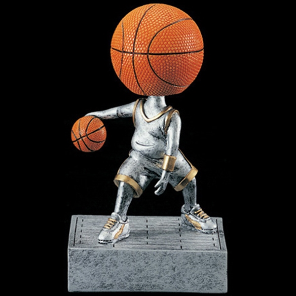 Custom Printed Basketball Head Bobble Heads