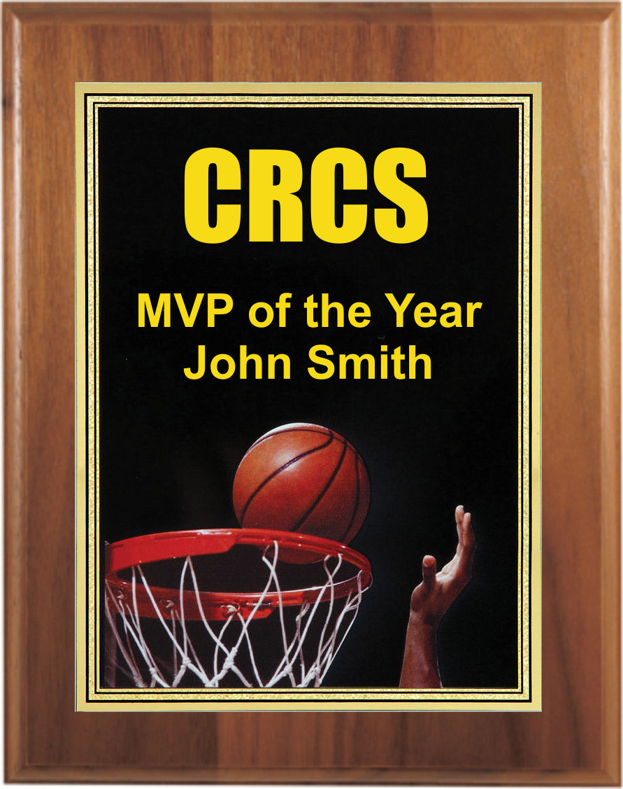 Custom Printed Basketball Photo Sport Plaques