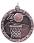 Custom Printed Basketball Shooting Star Medals