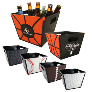 Custom Printed Basketball Sport Theme Buckets