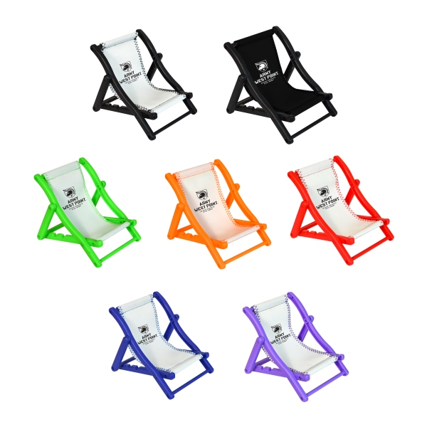 Custom Printed Beach Chair Cell Phone Holders