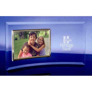 Custom Printed Bent Glass Picture Frame Crystal Gifts