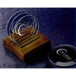 Beveled Coaster Crystal Gifts, Custom Made With Your Logo!