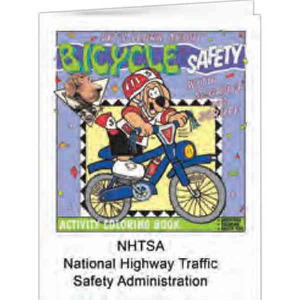 Custom Imprinted Bicycle Safety Coloring Books