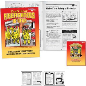 Custom Printed Bilingual Firefighter Coloring Books