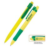 Custom Printed Green Environmentally Friendly Pens