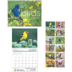 Custom Printed Birds Appointment Calendars