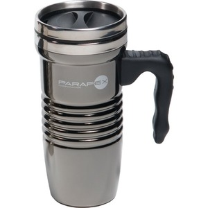 Custom Printed Black Chrome Stainless Steel FDA Compliant Travel Mugs