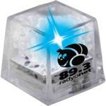 Custom Printed Blue Cool Gel Light Up Ice Cubes