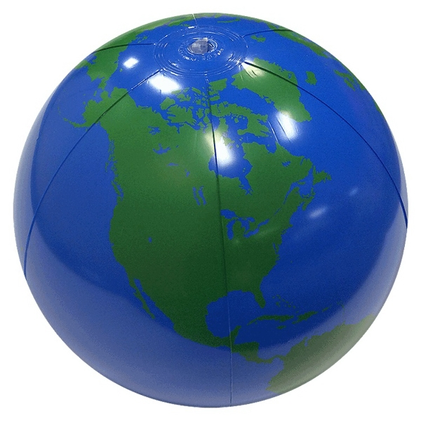 Custom Printed Medium Globe Beach Balls