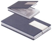 Business Card Cases Blue Leather, Custom Decorated With Your Logo!