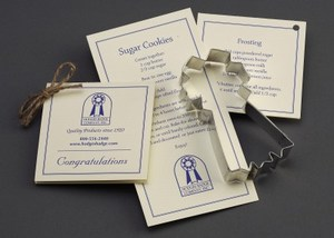 Custom Imprinted Blue Ribbon Stock Shaped Cookie Cutters