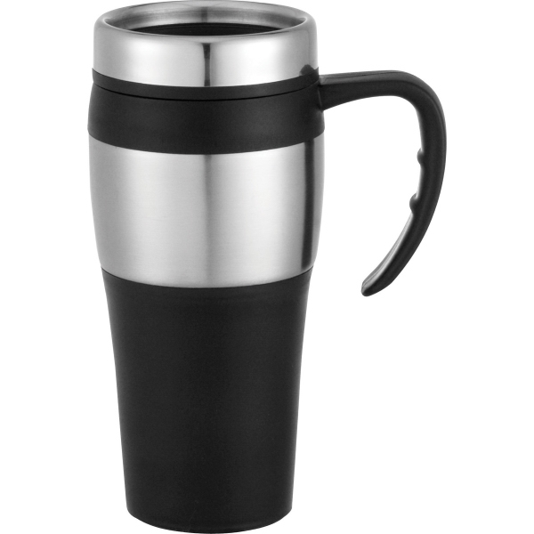 1 Day Service Stainless Steel Mugs with Screw on Lids, Customized With Your Logo!