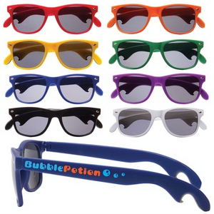 Bottle Opener Sunglasses, Custom Imprinted With Your Logo!