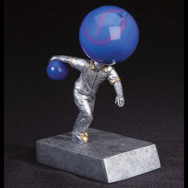 Custom Imprinted Bowling Ball Head Bobble Heads