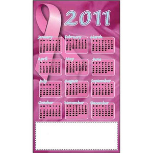 Custom Printed Breast Cancer Awareness Magnetic Calendars