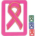 Custom Printed Breast Cancer Awareness Pink Paperclips