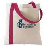 Custom Printed Breast Cancer Awareness Pink Tote Bags
