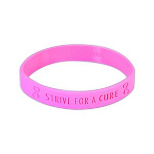 Custom Printed Breast Cancer Awareness Stock Shaped Silly Bands